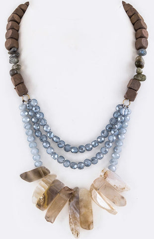 Wood Stone and Beaded - Mseljoy Accessories
