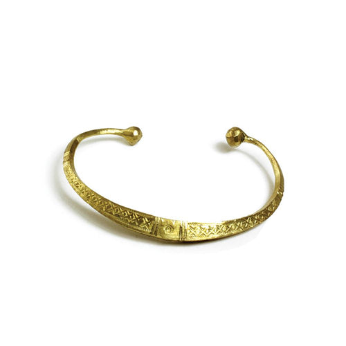 AF-Tuareg Bangle Bracelet with Detailed Engravings