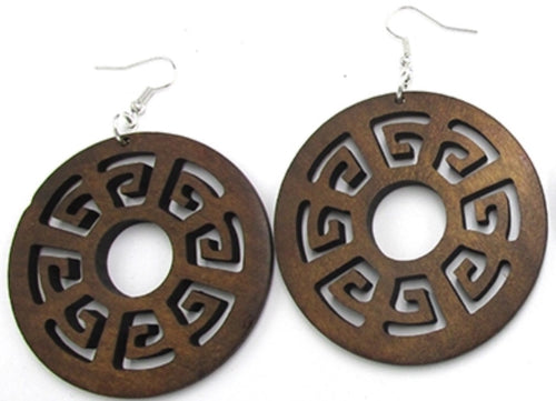 Classic Style African Wood Earrings