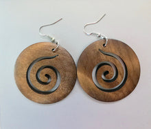 Circular Wood Earrings - 3 Colors Available