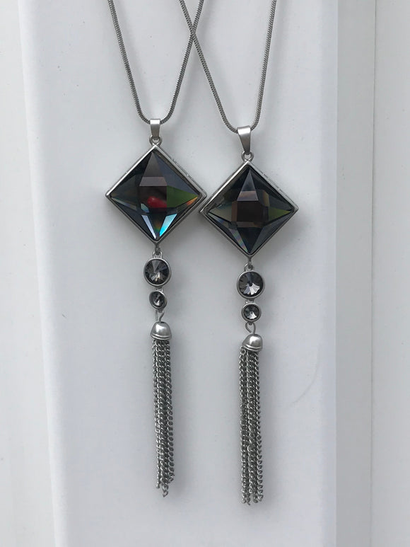 Silver and Crystal Necklaces 3 Choices Available - Mseljoy Accessories