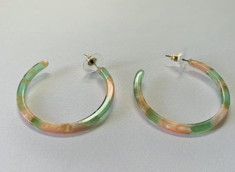 Spring Fling Acrylic Hoops - Mseljoy Accessories