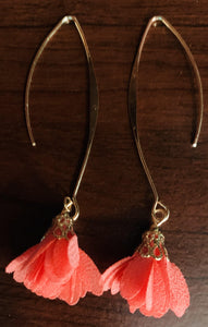 Long Drop Earring with Flowerbud 🌺 - Mseljoy Accessories