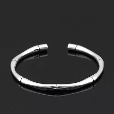 Open Cuff Sterling Silver Bracelet - Mseljoy Accessories