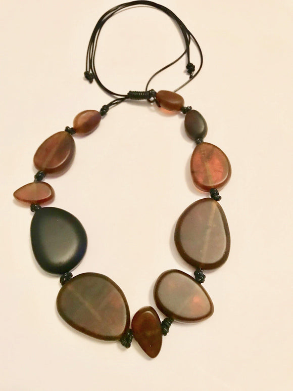 Acrylic Beaded Statement Necklace - Mseljoy Accessories