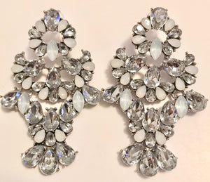 Crystal and Stone Statement Earrings - Mseljoy Accessories