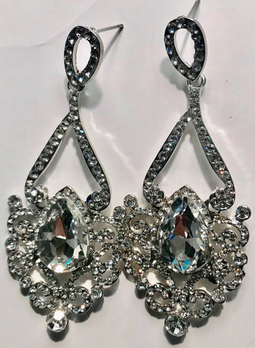 Crystal and Rhinestone Earrings - Mseljoy Accessories