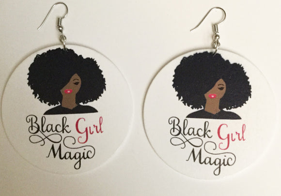 Black Girl Magic Earrings - Mseljoy Accessories