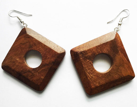 Wood Earrings - Mseljoy Accessories