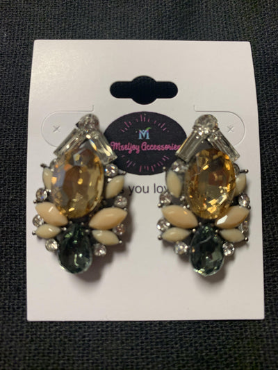Gemstone and Ivory Earrings - Mseljoy Accessories