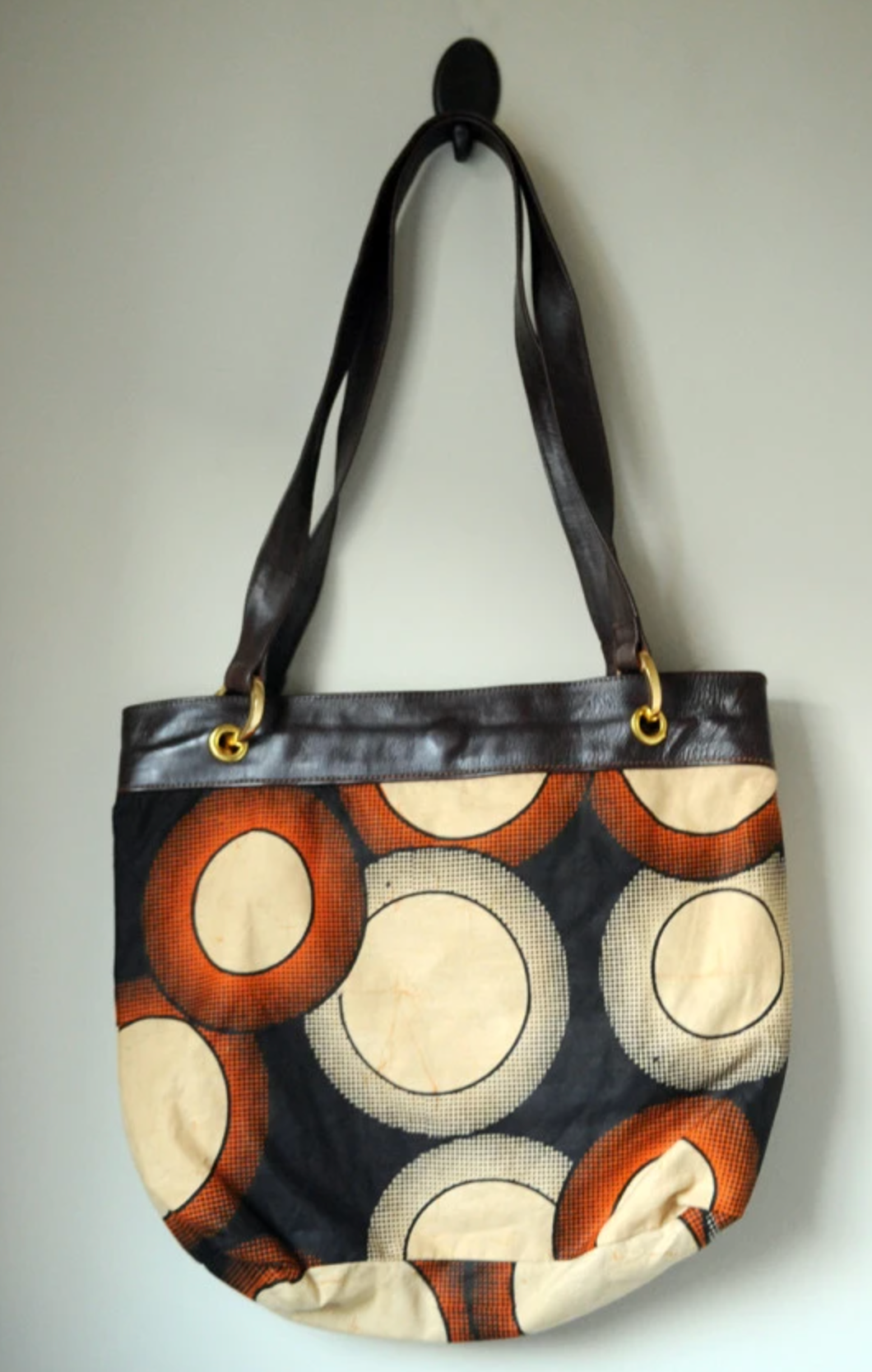 Leather and Fabric Bag - Mseljoy Accessories