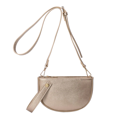 Small Cross Body Bag in Gold Blush - Mseljoy Accessories