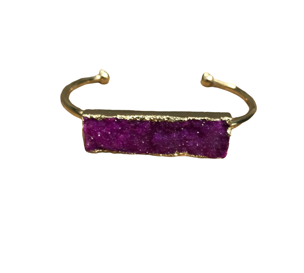RS-Raw Stone Bangle Bracelet - Mseljoy Accessories
