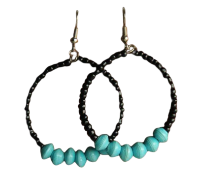 Beaded Hoops - Three Colors - Mseljoy Accessories