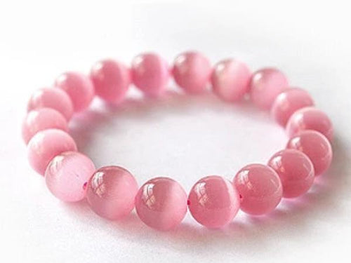 Pink Beaded Stretch Bracelet