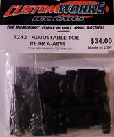 3242 Custom Works Adjustable Toe Rear A-Arm Set