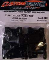 3244 Custom Works Adjustable Toe Rear A-Arm Set