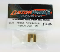 3529 Custom Works Brass Servo Mount
