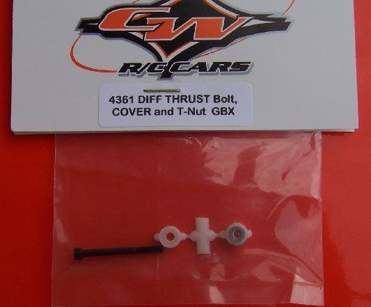 4361 Custom Works   Diff Thrust Bolt, Nut & Cover