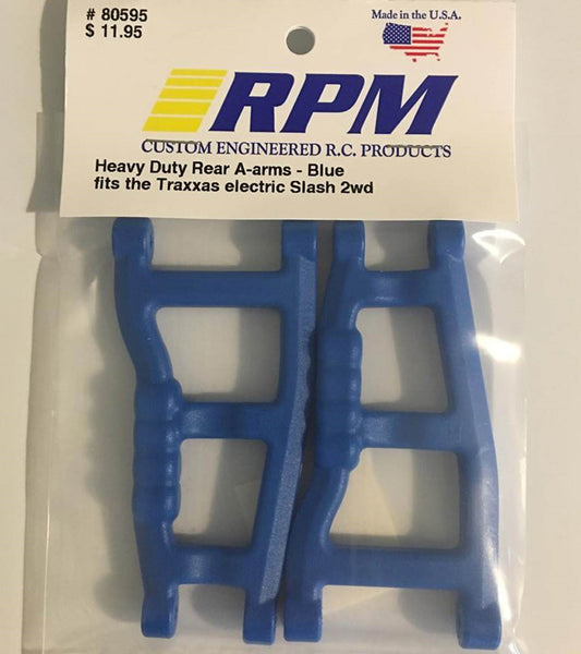 80595  RPM 2WD Heavy Duty Rear A-arms Blue