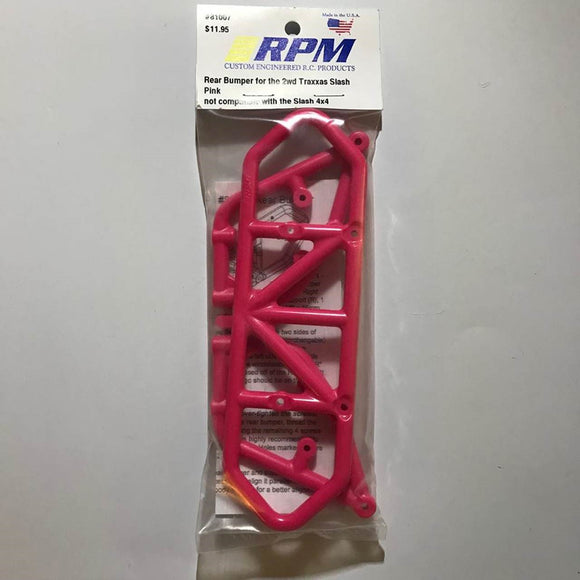 81007 RPM Traxxas Slash Pink Rear Bumper Assembly