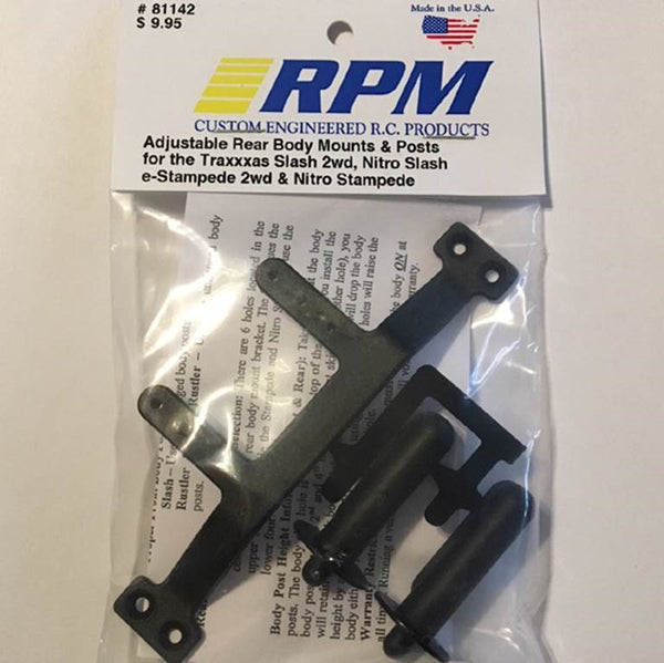 81142 RPM Adjustable Rear Body Mounts and Posts Black
