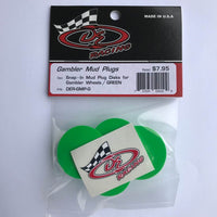 DER-GMP-G Snap-In Mud Plug Disk for Gambler Wheels Green