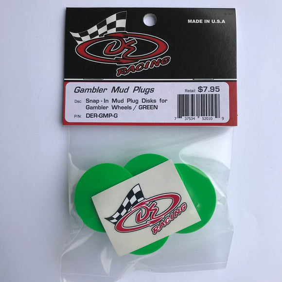 DER-GMP-G Snap-In Mud Plug Disk for Gambler Wheels Yellow