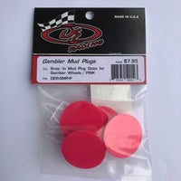 DER-GMP-P Snap-In Mud Plug Disk for Gambler Wheels Pink