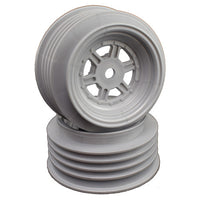DER-GSF-AS DE Racing Gambler Front Wheels (AE Offset) (Silver)