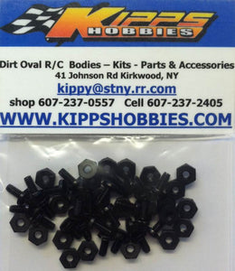 K440NBK Black Kipps 440 Nylon Nuts and Bolts