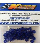 K440NBL Blue Kipps 440 Nylon Nuts and Bolts