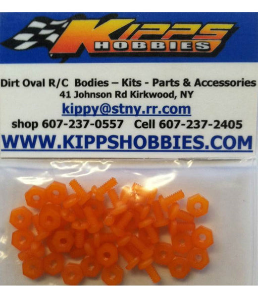 K440NOR Orange Kipps 440 Nylon Nuts and Bolts