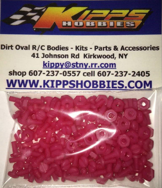 K440NPK Pink Kipps 440 Nylon Nuts and Bolts