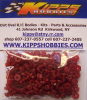K440NRD200 Red Kipps 440 Nylon Nuts and Bolts