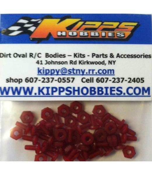 K440NRD Red Kipps 440 Nylon Nuts and Bolts