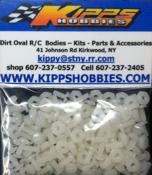 K440NWT200 White Kipps 440 Nylon Nuts and Bolts