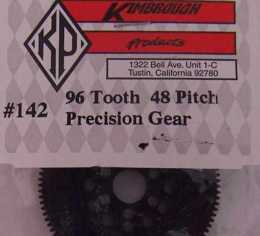 KP142  Kimbrough 96 Tooth 48 Pitch Spur Gear