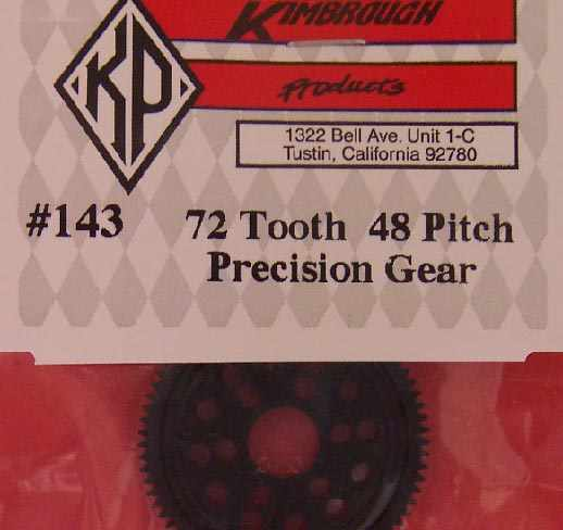 KP143 Kimbrough 72 Tooth 48 Pitch Spur Gear