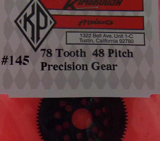 KP145 Kimbrough 78 Tooth 48 Pitch Spur Gear