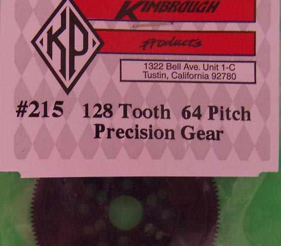 KP215 Kimbrough 128 Tooth 64 Pitch Spur Gear