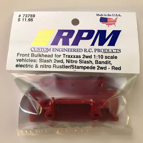 73759 RPM Red Front Bulkhead 1/10