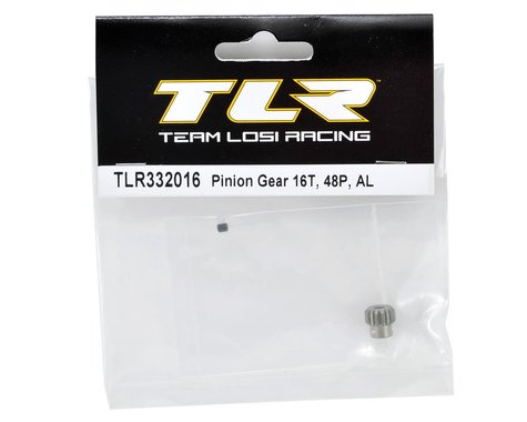 TLR332016 Team Losi Racing Aluminum 48P Pinion Gear (3.17mm Bore) (16T)