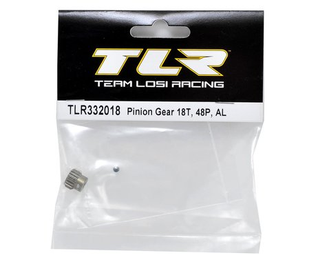 TLR332018 Team Losi Racing Aluminum 48P Pinion Gear (3.17mm Bore) (18T)