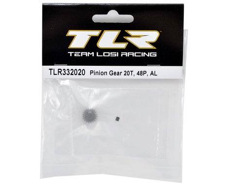TLR332020 Team Losi Racing Aluminum 48P Pinion Gear (3.17mm Bore) (20T)