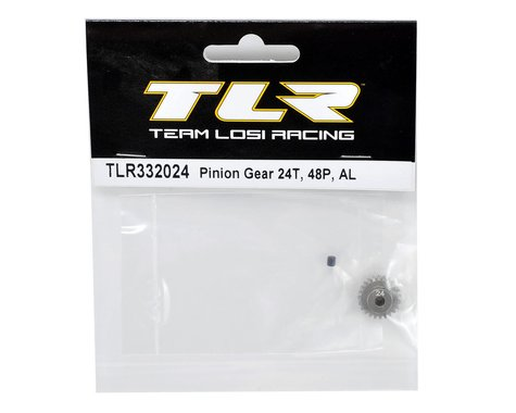 TLR332024 Team Losi Racing Aluminum 48P Pinion Gear (3.17mm Bore) (24T)