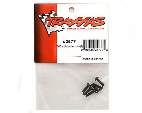 2577 Traxxas 3x10mm Button Head Screws (6)