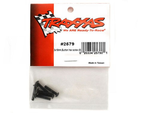 2579 Traxxas 3x15mm Button Head Screws (6)