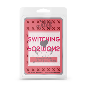 Switching Positions | Strawberry Pound Cake, Peppered Suede & Woolen Blanket Wax Melts
