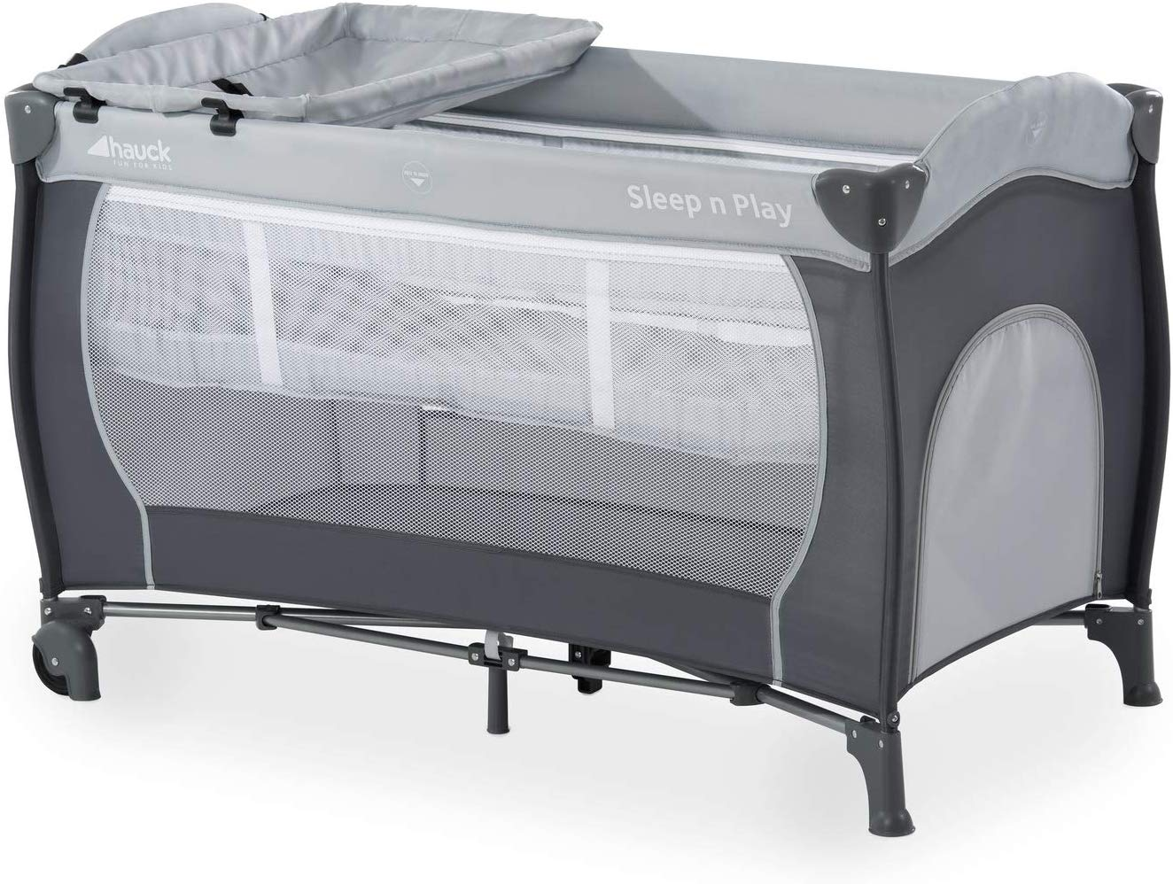 7-part folding travel cot - Hauck